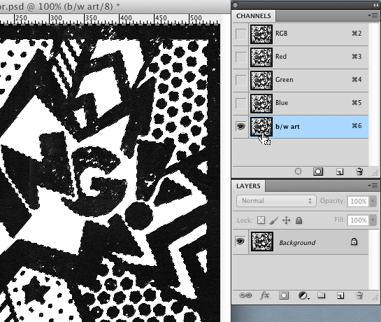 adding color to black and white artwork in photoshop pen