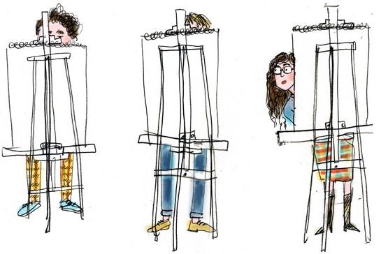 Liz Starin, Men in illustration