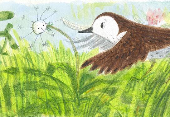 rob-dunlavey-dandelion-sparrow