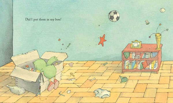 spread from Have You Seen My New Blue Socks ?written by Eve Bunting, coming March 2013 (Clarion)