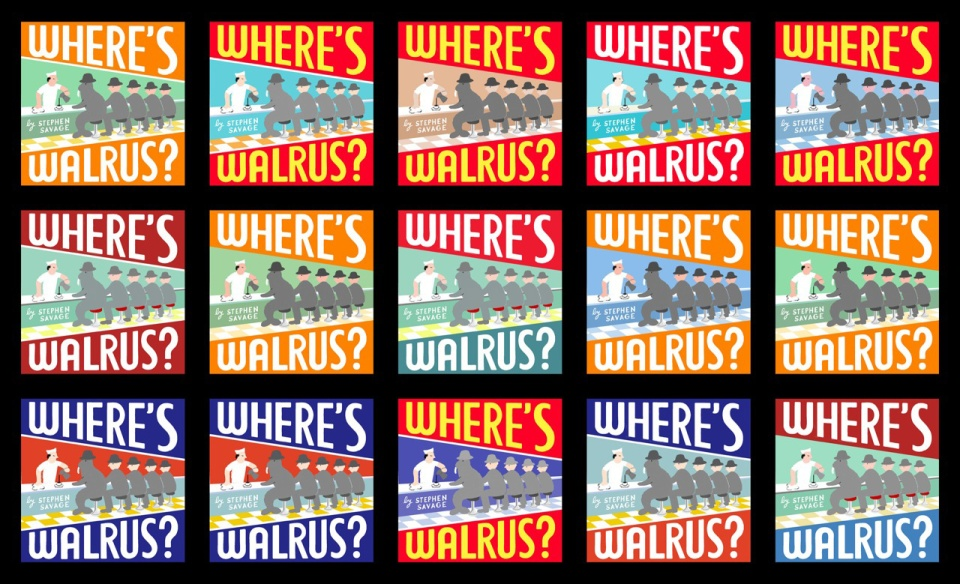 Where's Walrus cover color variations