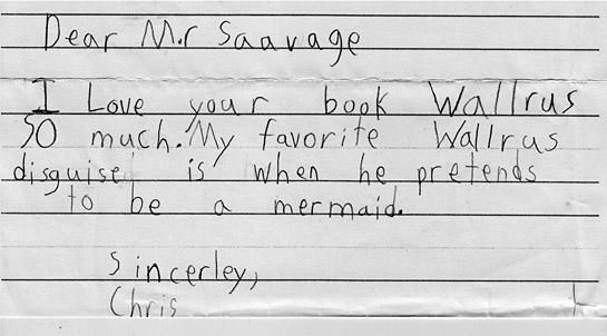 A letter from a fan.