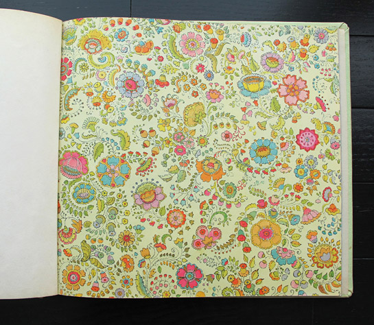 End papers for The Seamstress of Salzburg by Anita Lobel