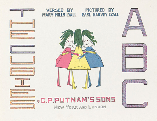 The Cubies' A B C by Mary Mills Lyall and Earl Harvey Lyall (G. P. Putnam's Sons, 1913)
