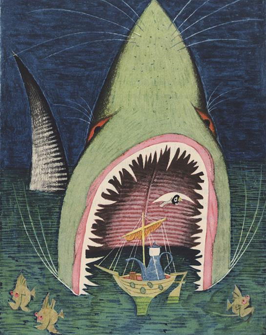 Illustration by Ungermann, 1950, via 50watts.com