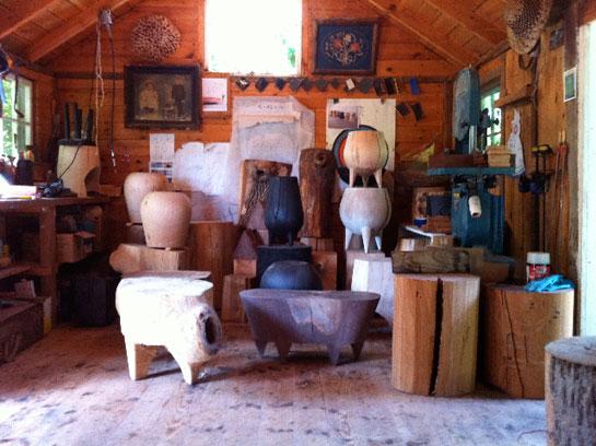 her husband's studio