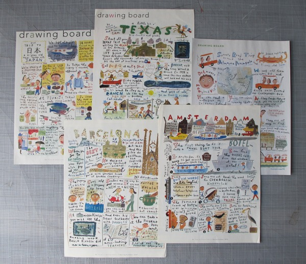 A series of illustrated travelogues Jessie created for Conde Nast Traveler. (Free trips!)
