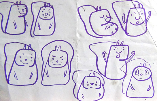 Studies for a simpler squirrel