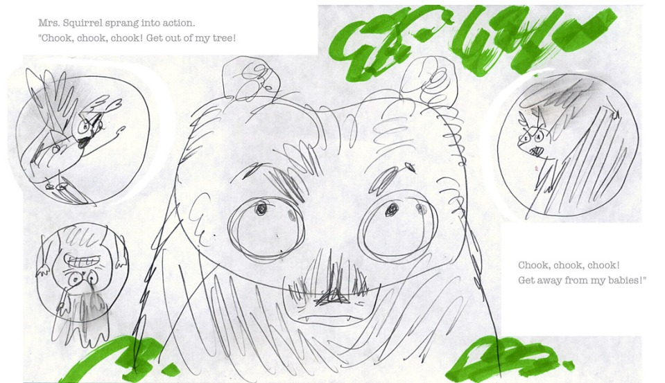 david-ezra-stein-original-ol-mama-squirrel-sketch-spread-3