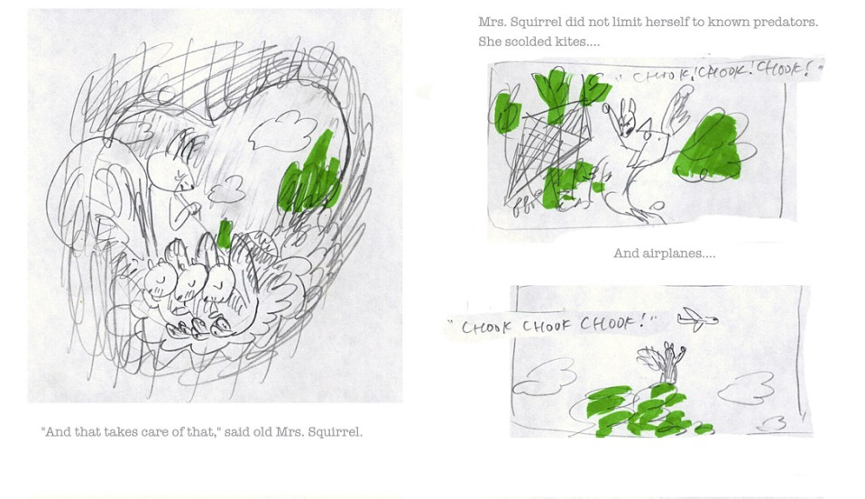 david-ezra-stein-original-ol-mama-squirrel-sketch-spread-4