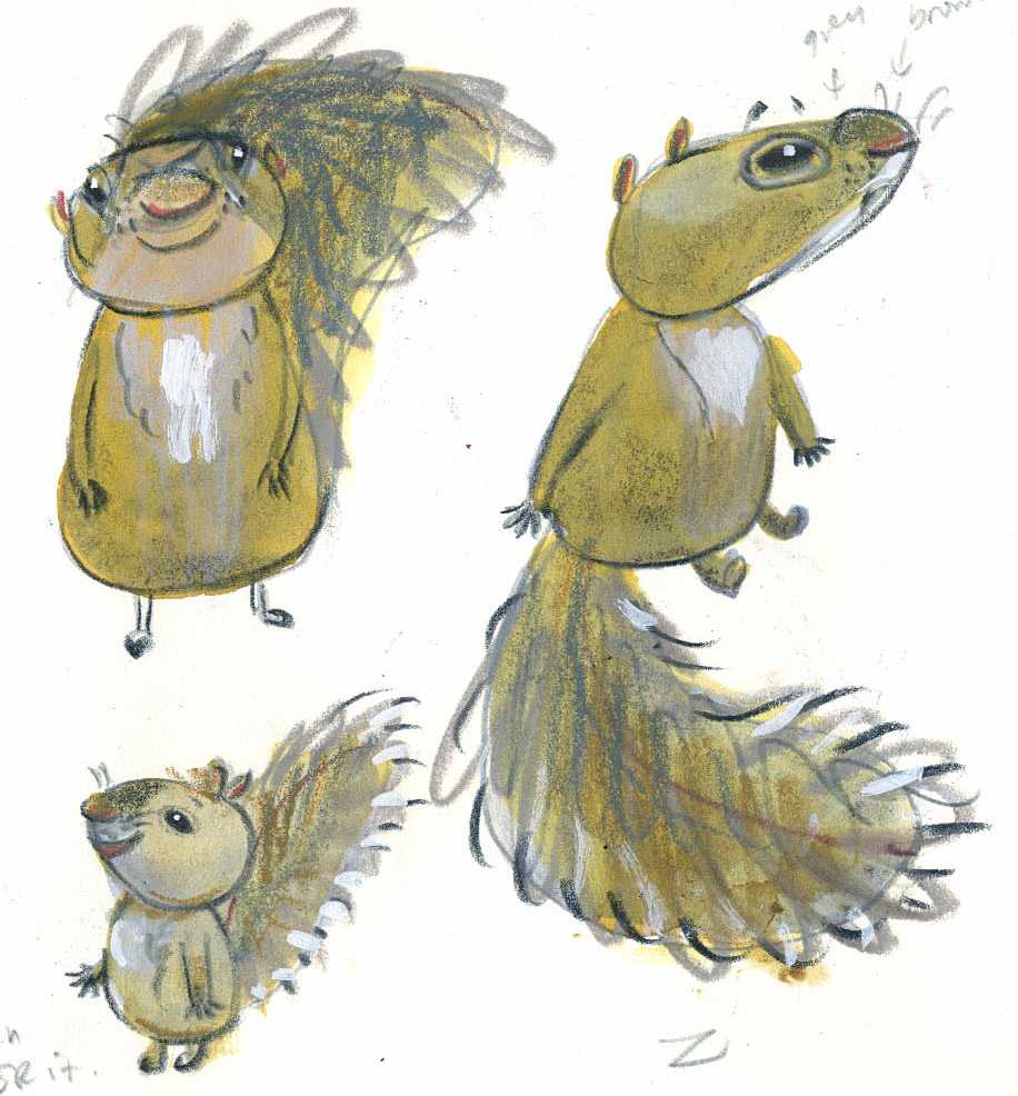 david-ezra-stein-original-ol-mama-squirrel-sketches-2