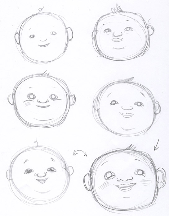 Fiona's sketches for the just right baby