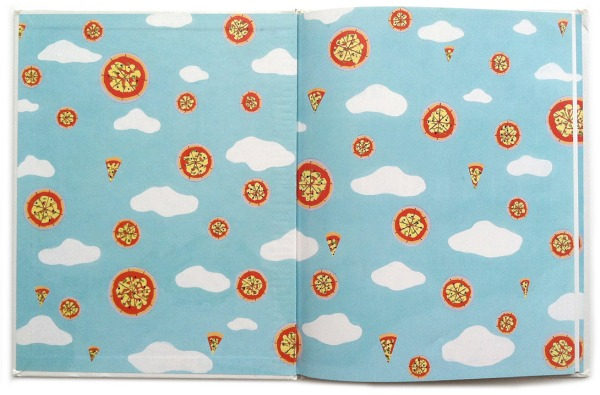 Endpapers for How Pizza Came to Queens by Dayal Kaur Khalsa