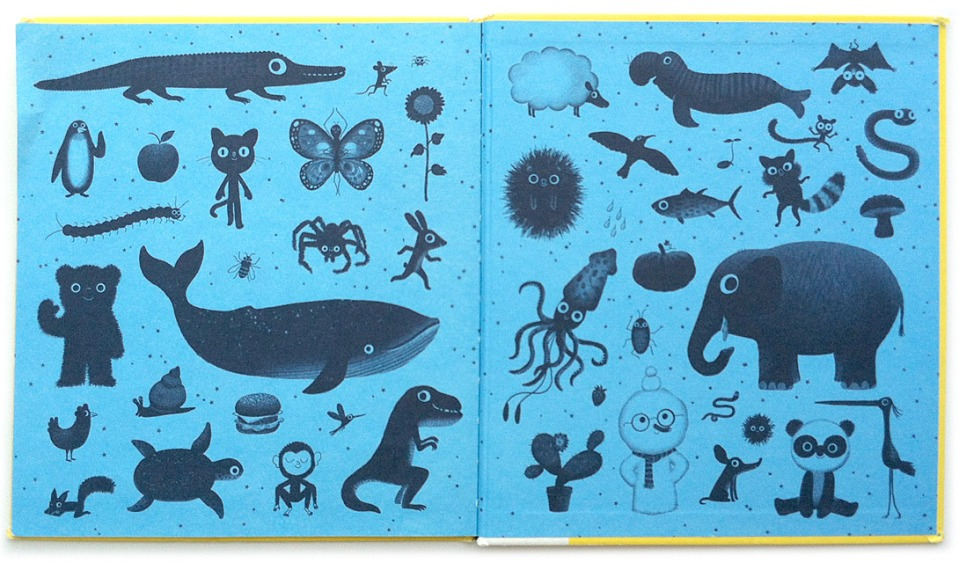 For Just One Day endpapers illustrated by Marc Boutavant. (Click to enlarge.)