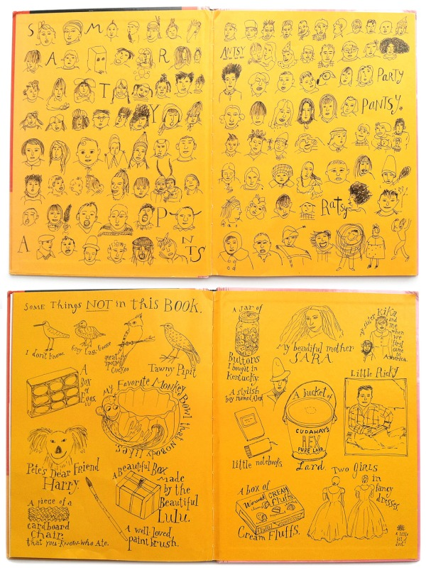 Endpapers for Smartypants by Maira Kalman