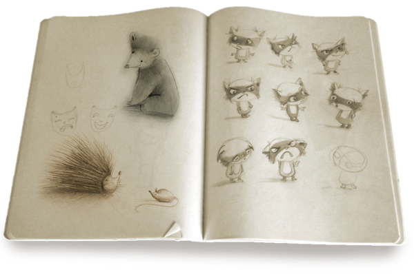 A spread from Lori Nichols' sketchbook.