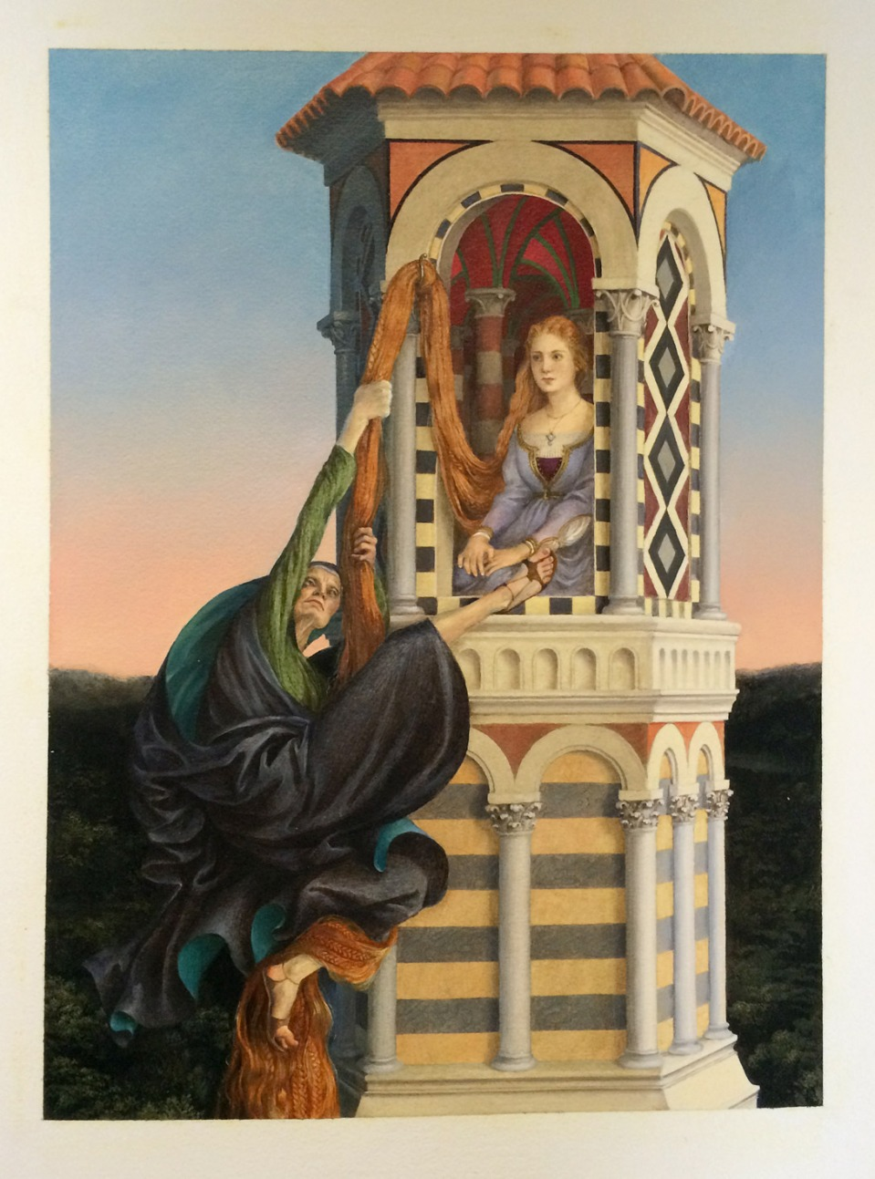 Painting from Rapunzel by Paul O. Zelinsky (click to enlarge)