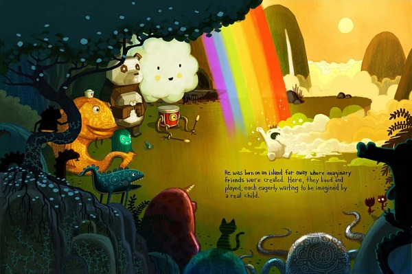 The final opening spread from Beekle.