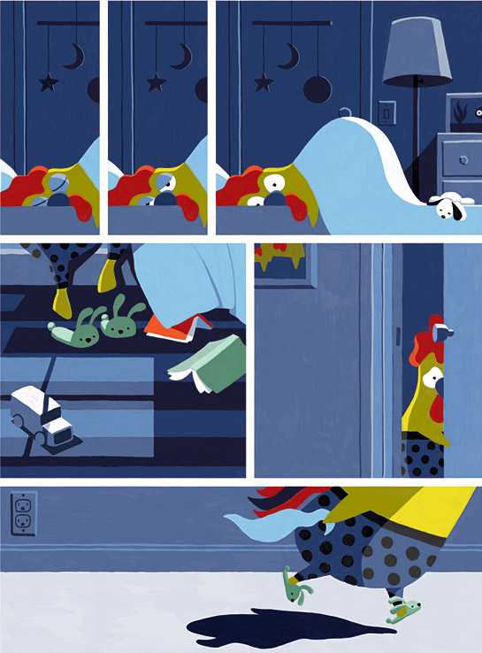 Robin Rosenthal Rooster Wakes up