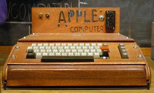 The original Apple 1 computer created in 1976. Photo by Ed Uthman