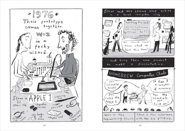 Creating Apple 1. A final spread for Steve Jobs: Insanely Great by Jessie Hartland.