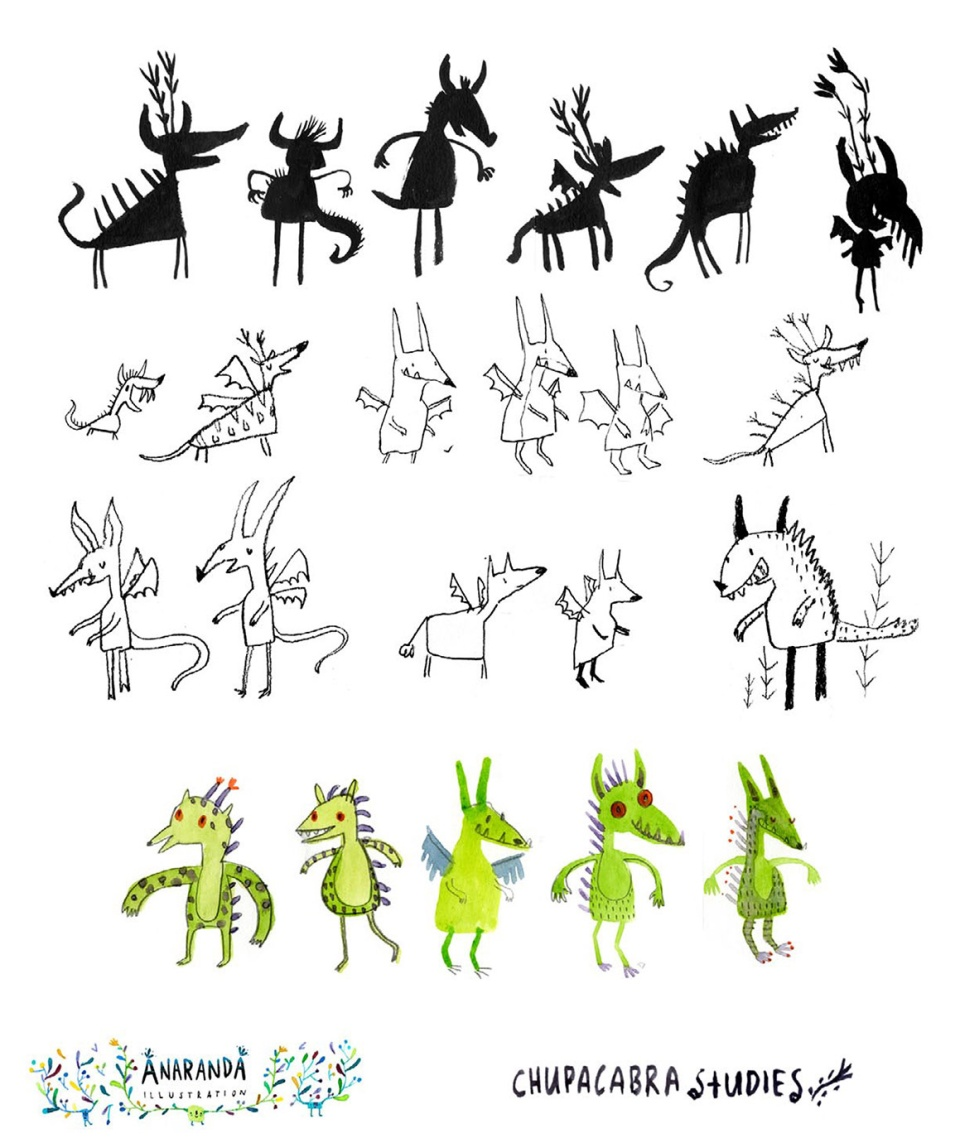 AnaAranda_First-Sketches_ChupacabraAteTheCandelabra-1